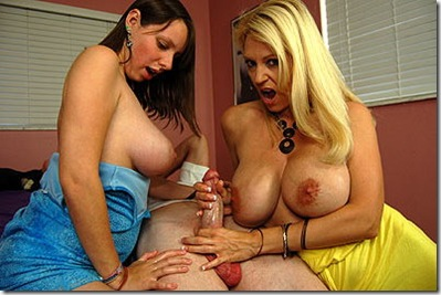 zoe and her nympho mom jerk cock at club tug